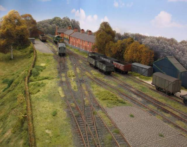 High level view of Albion Yard before new trees applied to backscene