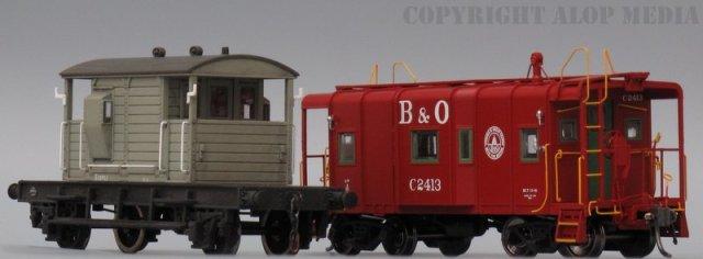 4mm (OO) scale SR 25 Ton Pill Box Brake Van & 3.5mm (HO) scale B&O I-12 Caboose