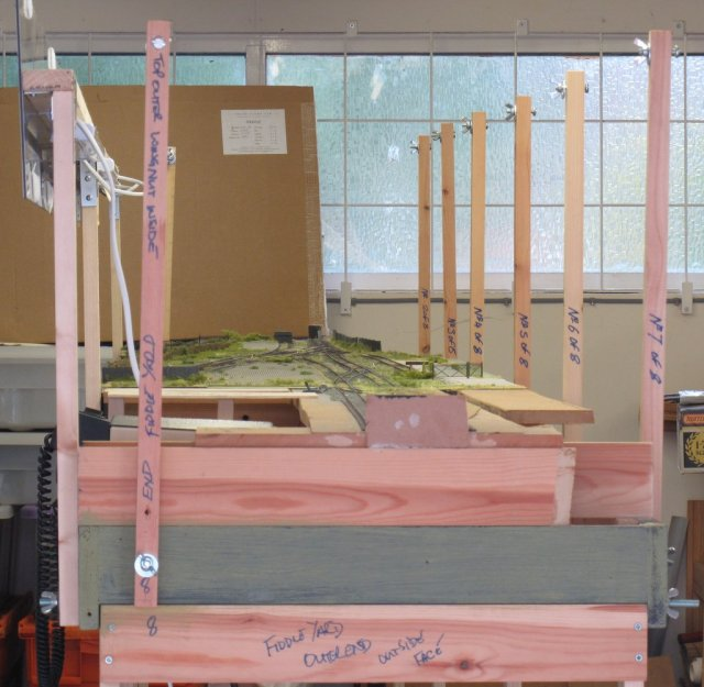Basic hanging framework on the layout chassis