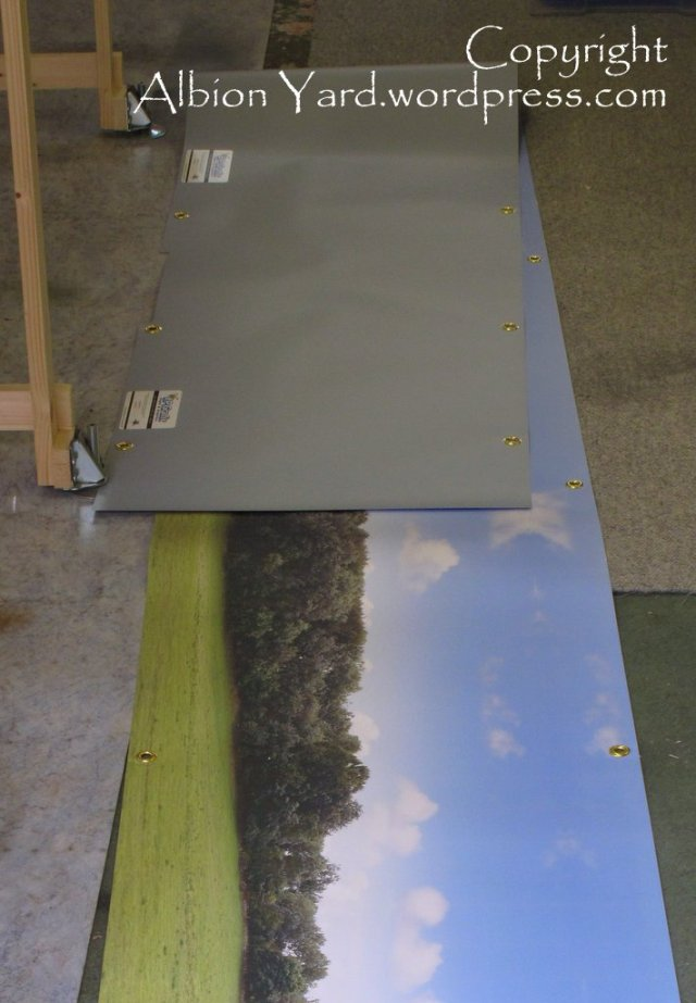 14ft of digital print prior to installation